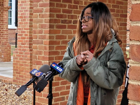 Hill's mother, LaToya Benton, held a press conference Saturday to raise awareness of her son's death.  Dogwood photo by Arianna Coghill.