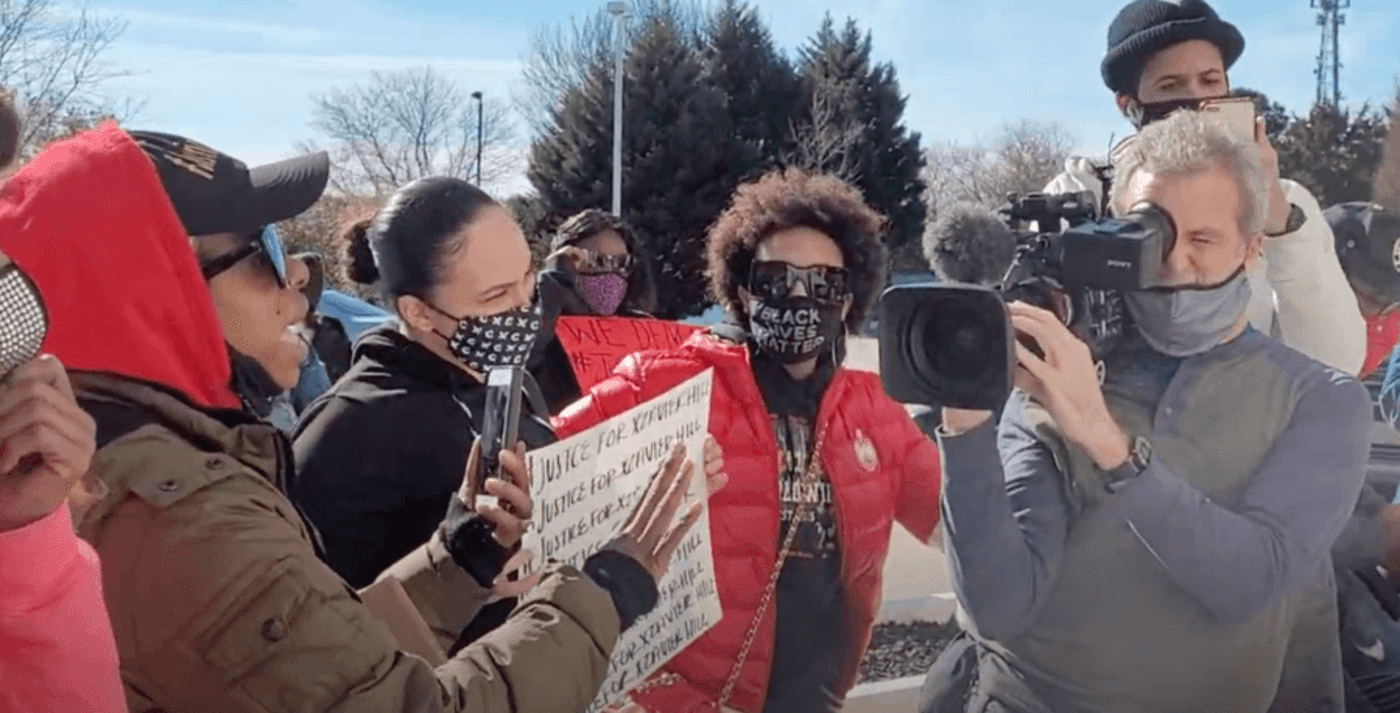 Officers told Benton there's nothing they can do, but demonstrators are demanding answers.