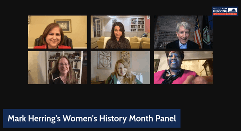 Virginia Attorney General Mark Herring held a panel discussion in honor of Women's History Month.