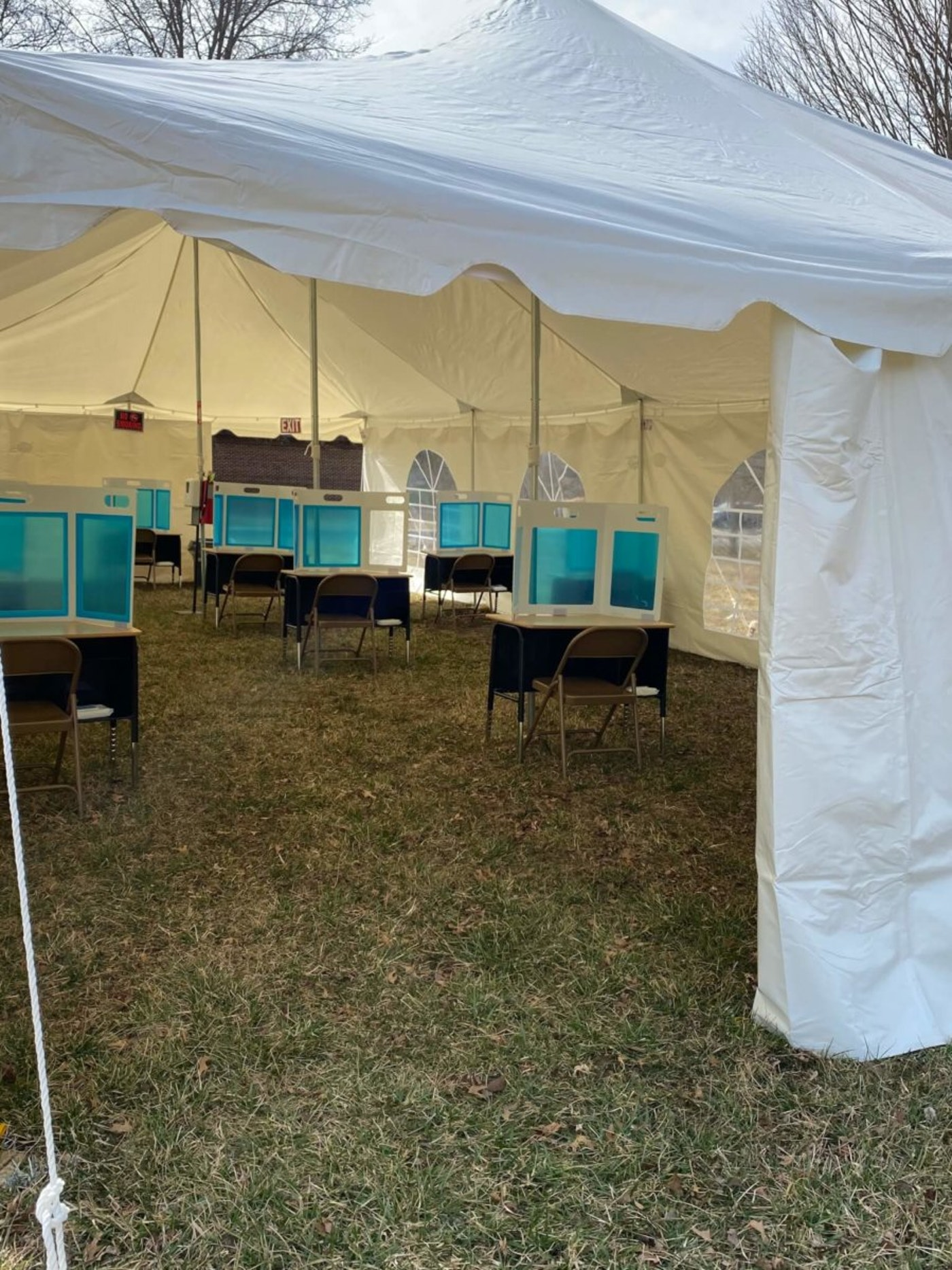 A look at some of the tent facilities used as virus mitigation methods by Montgomery County Schools.