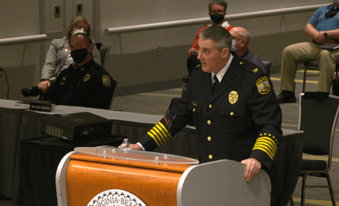 Virginia Beach Police Chief Paul Neudigate answered questions about the recent shootings at a special city council meeting Tuesday.