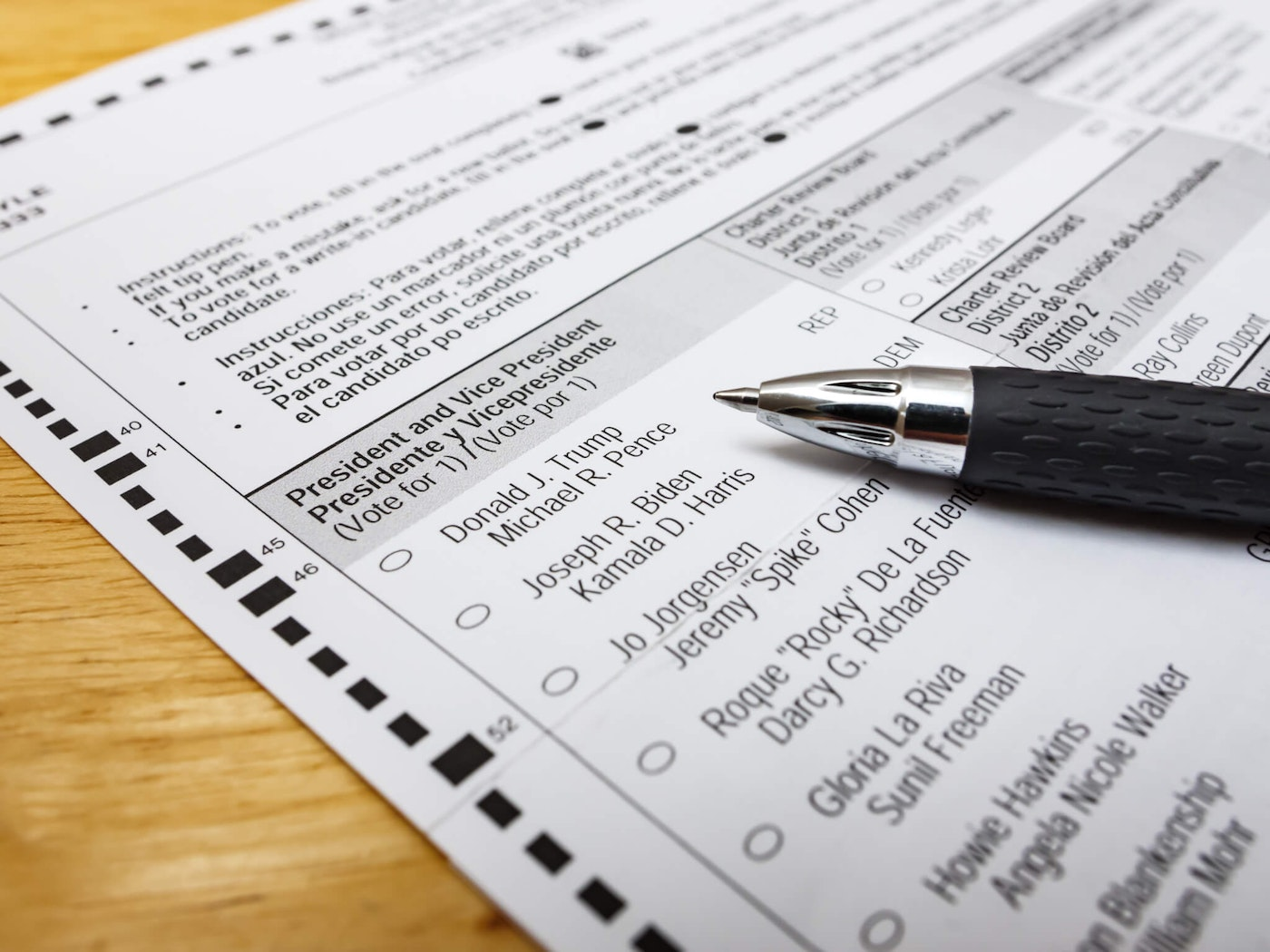The state board of elections selected the ballot order for June 8 on Wednesday