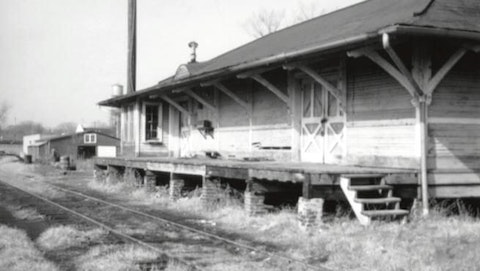 A look at the freight station that stood where Orion Anderson was killed in Loudoun County. Photo courtesy of NOVA Parks.