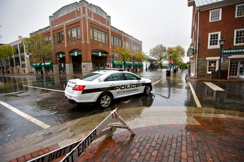 Flooding in Old Town Alexandria