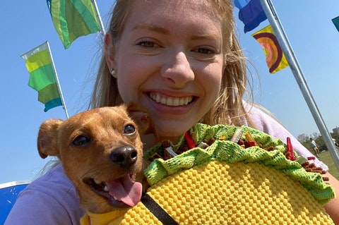 Samantha Gamboa and her puppy, Tito.
