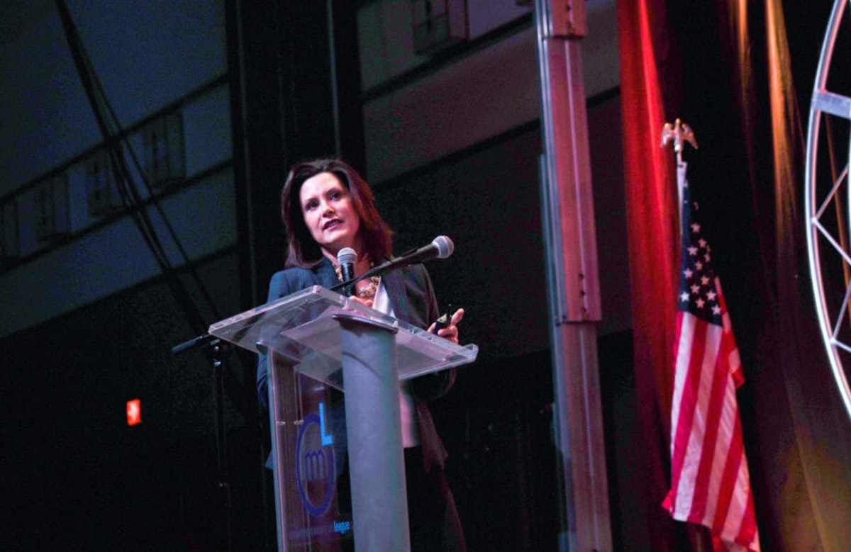 Whitmer at the 2019 Michigan Municipal League Capital Conference | Image via Flickr