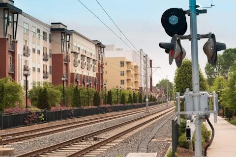 Apartments near Charlotte's light rail   Image via Shutterstock