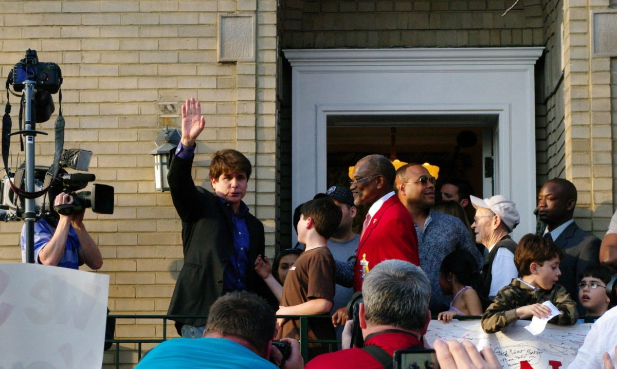 Image of Rod Blagojevich before beginning his prison sentence via Justin Newman / Creative Commons