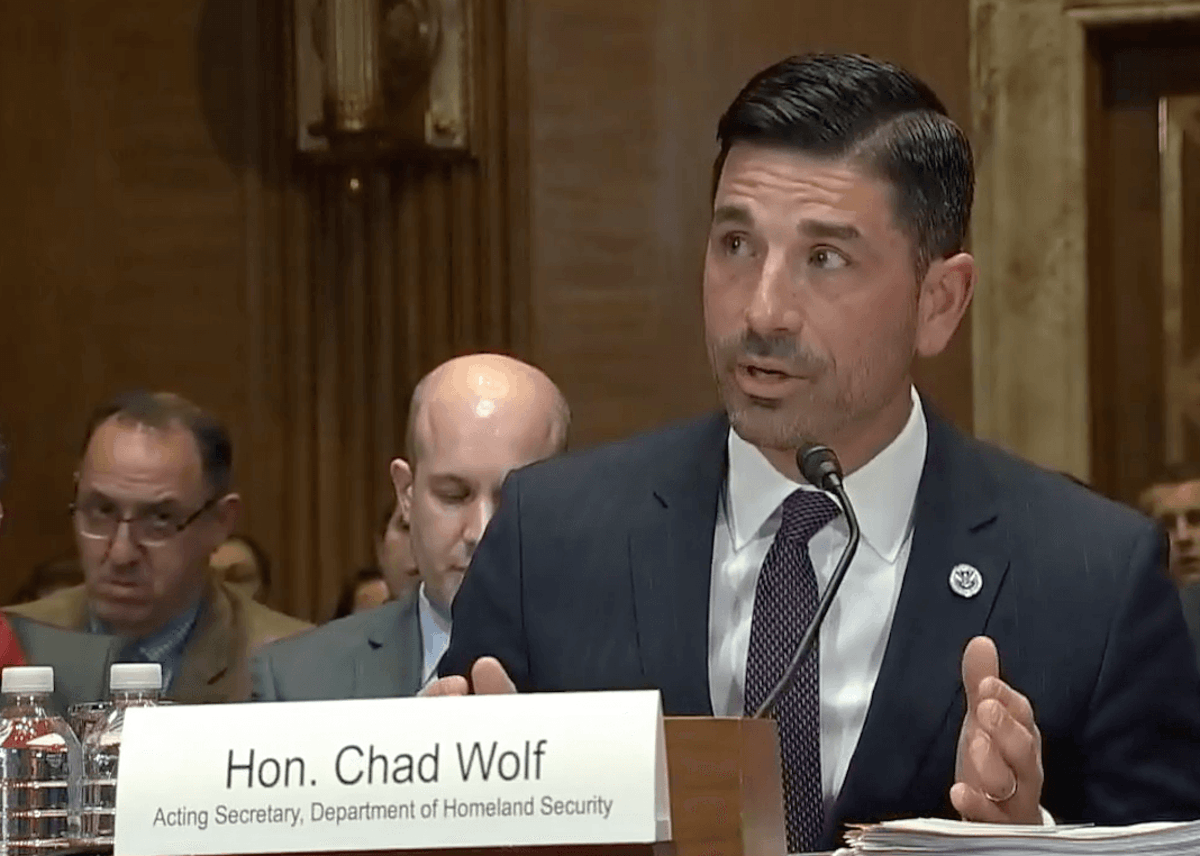 Acting Secretary of Homeland Security Chad Wolf YouTube