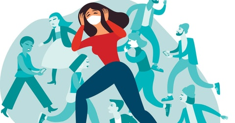 People stressed with coronavirus