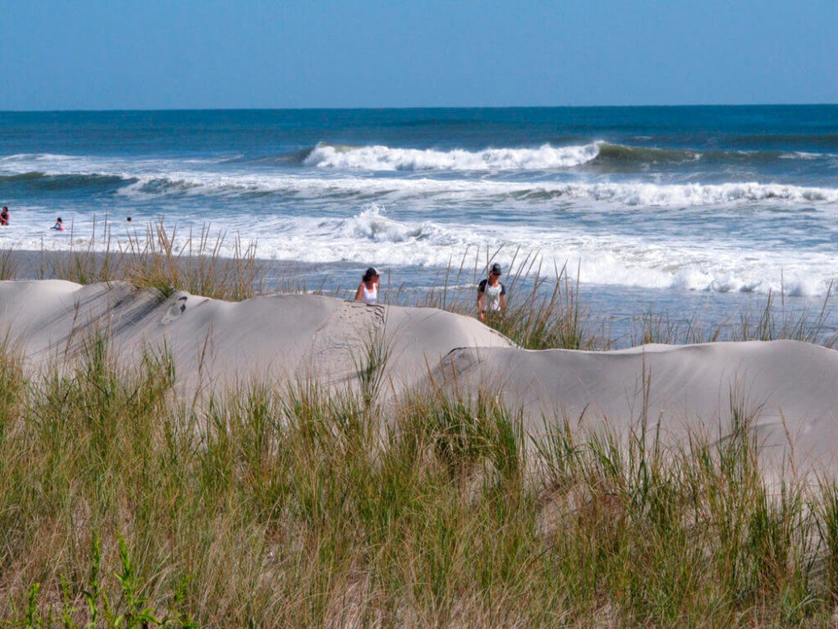 Sand dunes in Stone Harbor, N.J. (AP Photo/Wayne Parry, File)