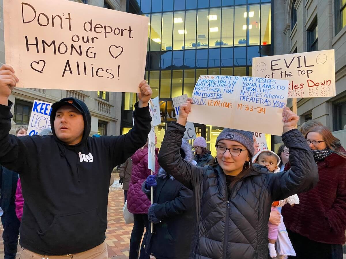 Eau Claire residents rally to support Hmong Against Trump deportation efforts