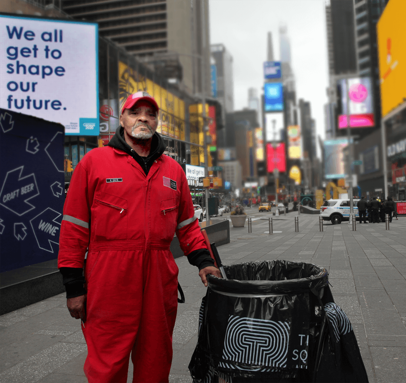 Kerri Cleans The Streets Of Times Square During Coronavirus Quarantine-Essential Workers
