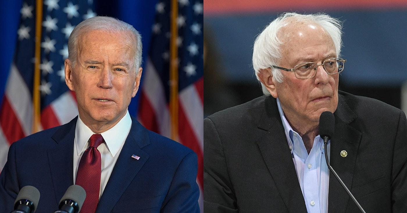 Joe Biden versus Bernie Sanders