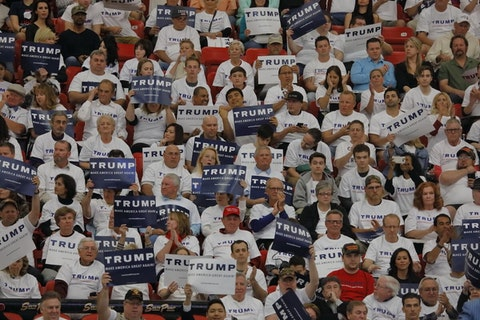 A rally at the South Point Las Vegas, Nevada   Image via Shutterstock