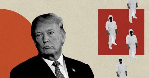 Trump Coronavirus|Copper Courier Graphic