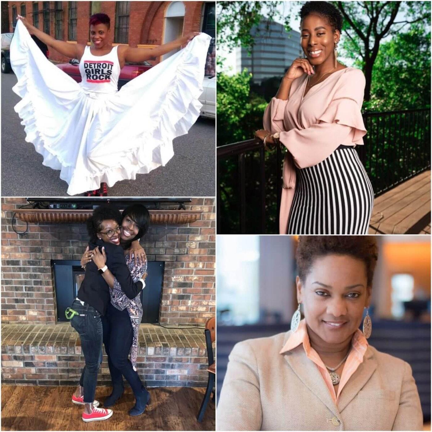Upper left corner, Nichole Bass-Hawk, lower left corner, Talaya Bates and mother, Sholanda Knott-Johnson, upper right corner, Alicia Howell, lower right, Audra Carson.