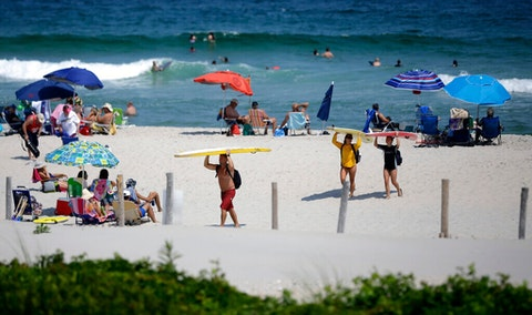 Virus Outbreak Unequal Beaches