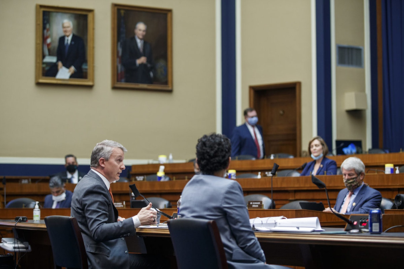 Bright testifies before a House Energy and Commerce Subcommittee on Health  Thursday, May 14, 2020, on Capitol Hill in Washington. (Shawn Thew/Pool via AP)