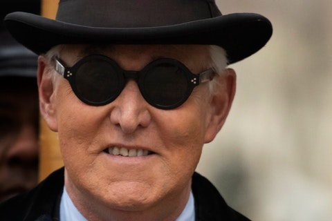 In this Feb. 20, 2020, file photo, Roger Stone arrives for his sentencing at federal court in Washington. (AP Photo/Manuel Balce Ceneta)