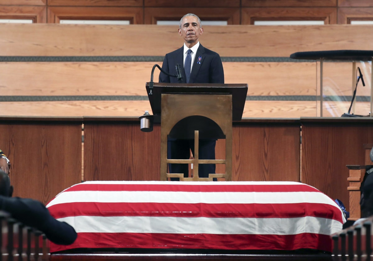 Obama Calls for Expansion of Voting Rights During Stirring Eulogy for John Lewis