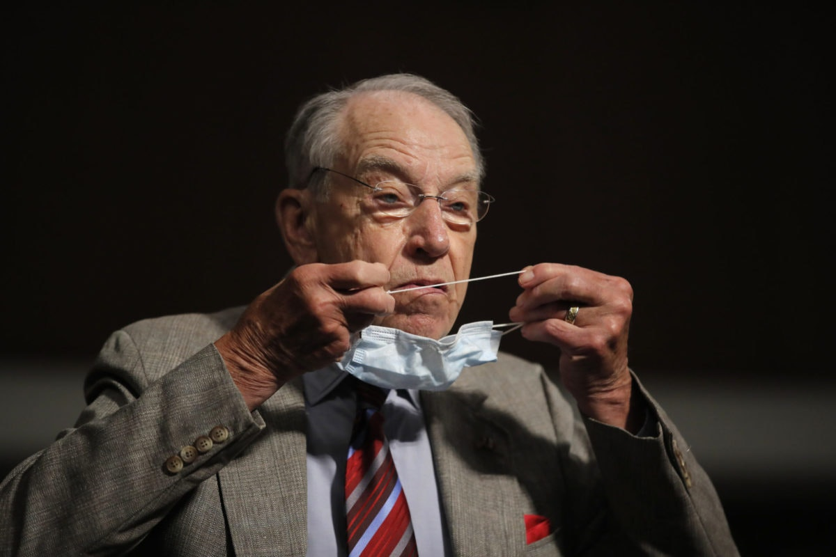Sen. Grassley will not be attending the Republican National Convention for the first time in his 40-year Senate career due to concerns about the coronavirus. (AP Photo/Carolyn Kaster, Pool, File)