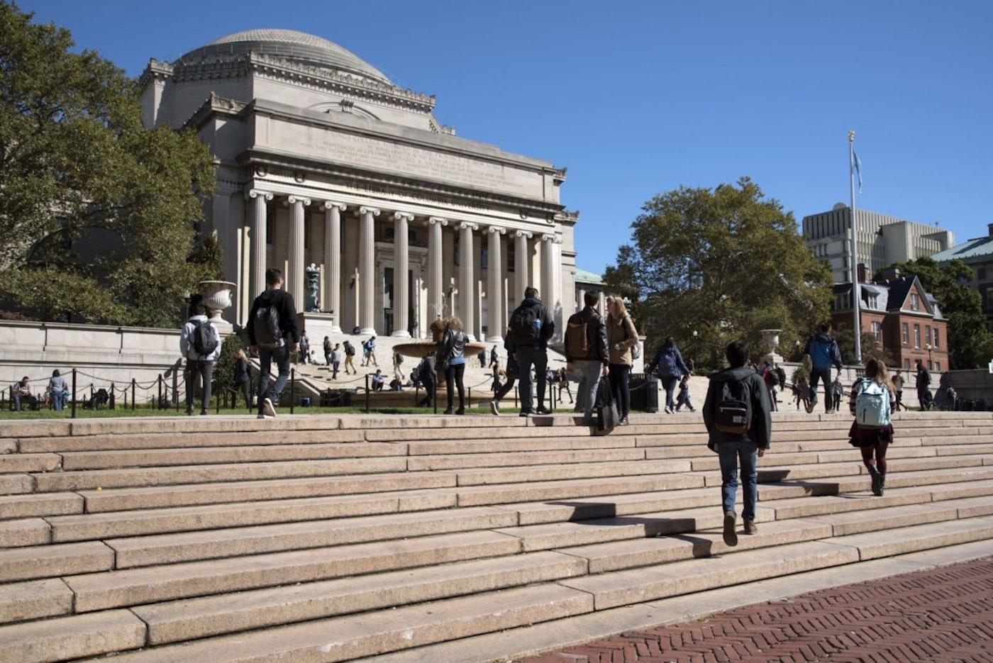 Columbia University students in New York City