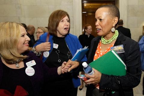 Arkansas state Sen. Joyce Elliot on the right in 2013 (AP Photo/Danny Johnston)