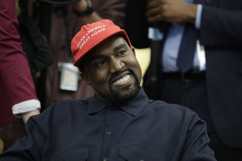 While Kanye West may no longer wear the red hat, his history with Trump is fueling speculation about the GOP's role in his candidacy. (AP Photo/Evan Vucci, File)