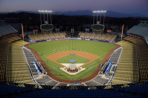 Dodger Stadium in Los Angeles, Calif., will be a voting venue this November. (AP Photo/Mark J. Terrill, File)