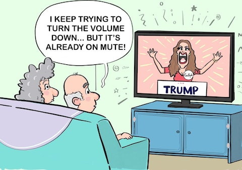 Kimberly Guilfoyle RNC speech cartoon