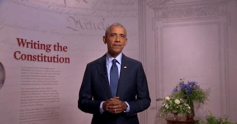 President Obama delivers his 2020 DNC speech in support of Joe Biden.