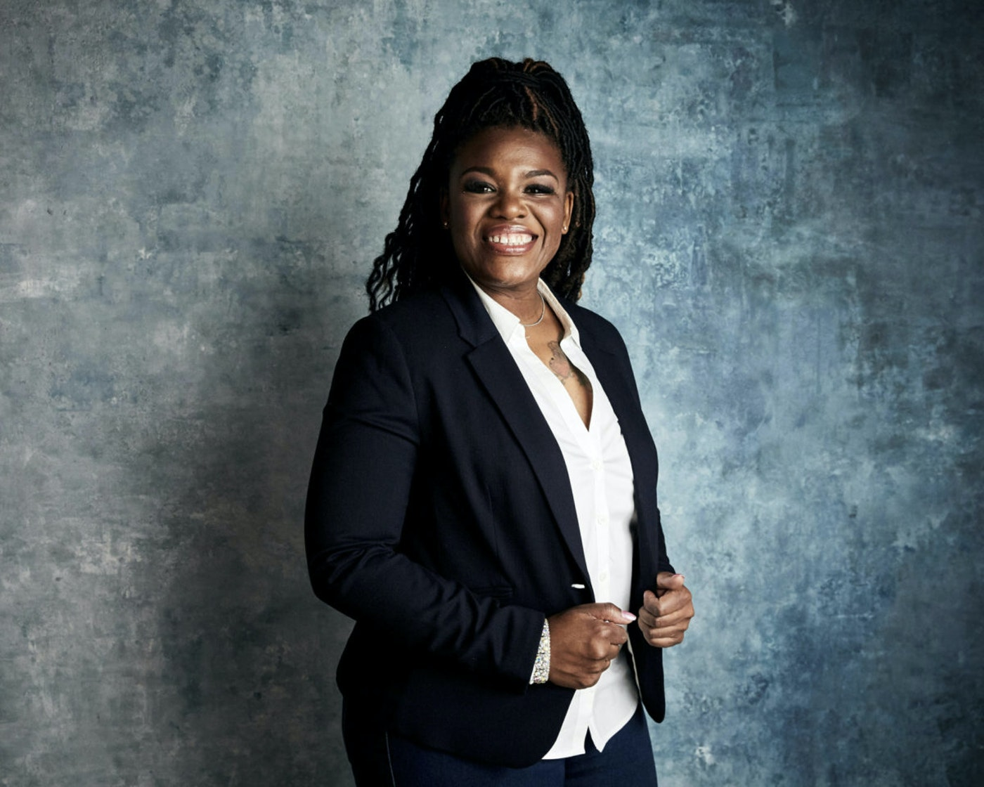 """In this Jan. 27, 2019, file photo Cori Bush poses for a portrait to promote the film """"Knock Down the House"""" at the Salesforce Music Lodge during the Sundance Film Festival in Park City, Utah. (Photo by Taylor Jewell/Invision/AP, File)"""