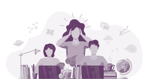 working moms distance learning