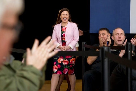 Rep. Abby Finkenauer  (AP Photo/Andrew Harnik)
