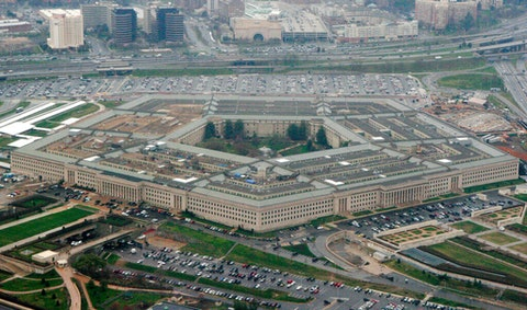 This aerial file photo, shows the Pentagon in Washington. (AP Photo/Charles Dharapak, File)