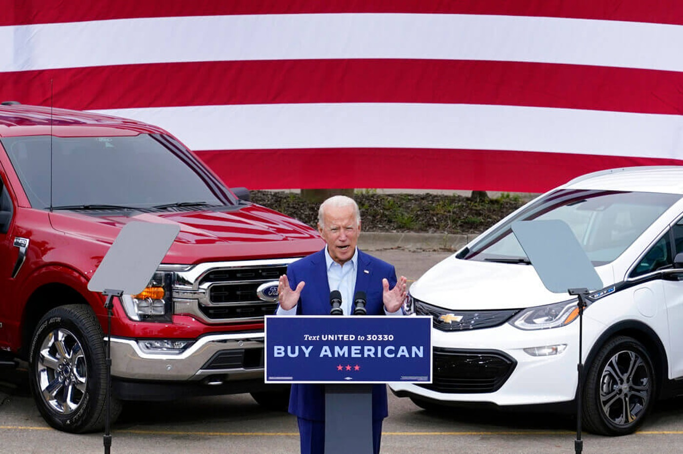 Democratic presidential candidate former Vice President Joe Biden speaks during a campaign event on manufacturing American products at UAW Region 1 headquarters in Warren, Mich., Wednesday, Sept. 9, 2020. (AP Photo/Patrick Semansky)