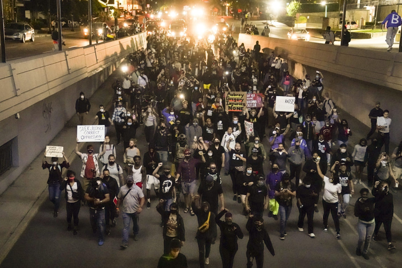 Protests against racial injustice continued this week after a Kentucky grand jury decided not to charge any officers for the death of Breonna Taylor while she slept in her apartment (AP Photo/John Minchillo)