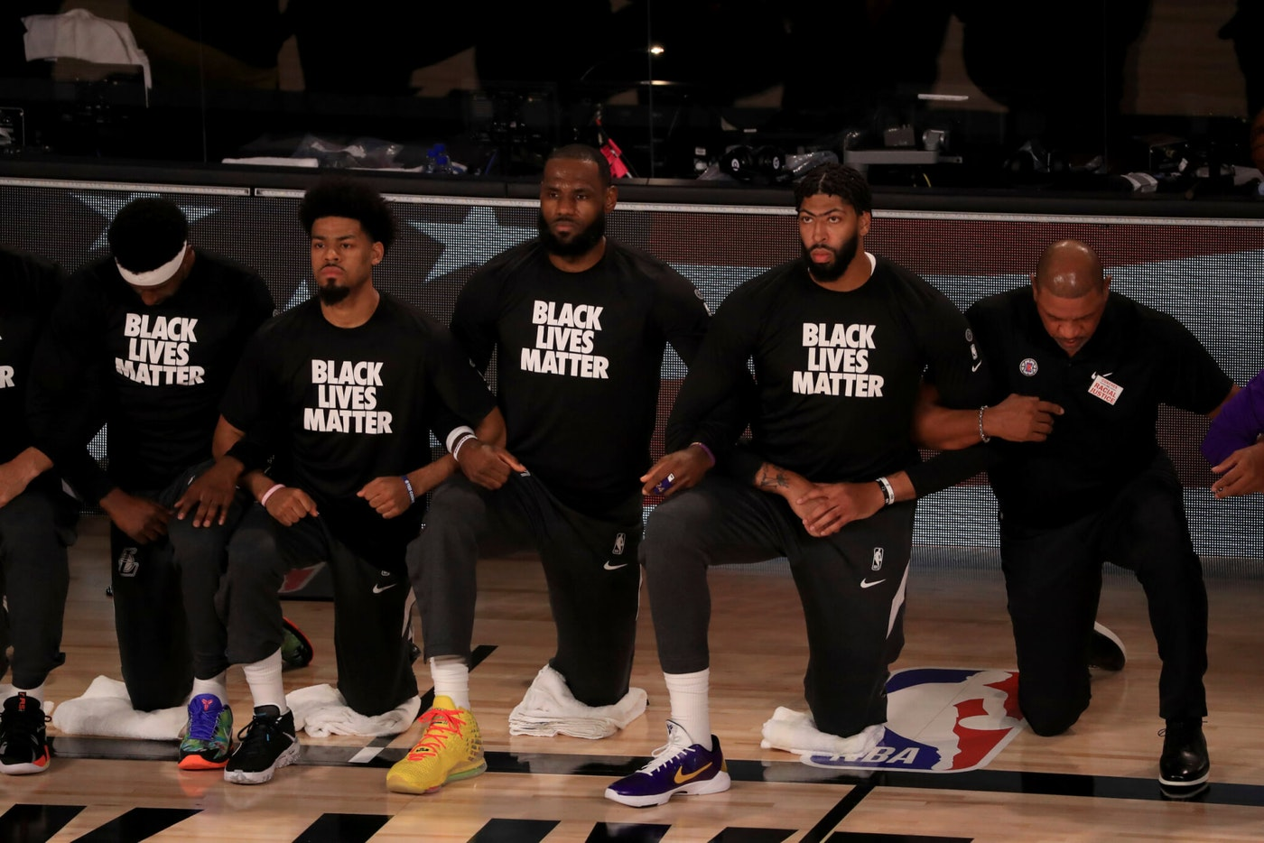 Lebron James is just one of the many athletes who have stood up to support Black Lives Matter since George Floyd's killing by police in May.