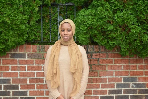 """Keziah Ridgeway, a Black Muslim mother of four and a high school history teacher, said Donald Trump is one of """"the most openly white supremacist presidents that we've had in modern history."""" (Keystone Photo/Samaria Bailey)"""