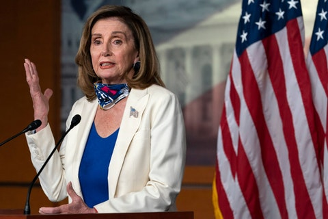 After nearly a week of President Trump's erratic behavior, Speaker of the House Nancy Pelosi announced legislation related to the 25th Amendment. (AP Photo/Jacquelyn Martin)
