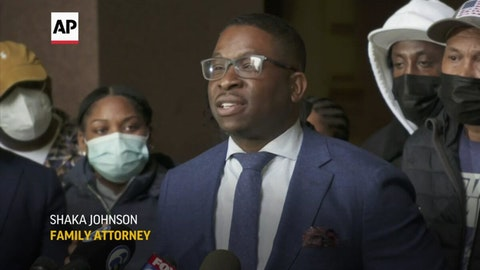 Attorney Shaka Johnson, who is representing the family of Walter Wallace Jr., speaks during a news conference on Thursday, Oct. 29, 2020. He called on the Philadelphia Police Department to equip all of its officers with Tasers and teach officers how to use them. (Screenshot from AP Video)