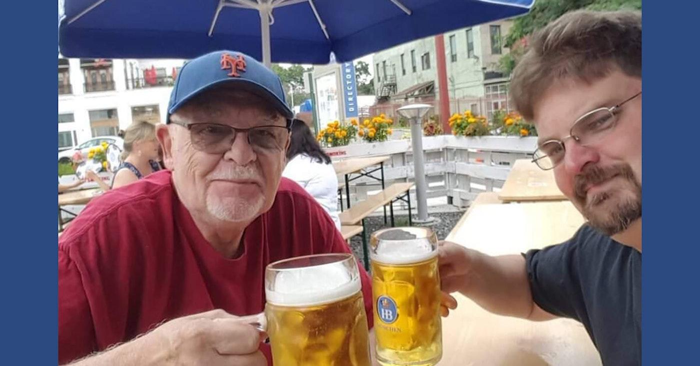 John Walter (left) and his son Brian (Image via Brian Walter)