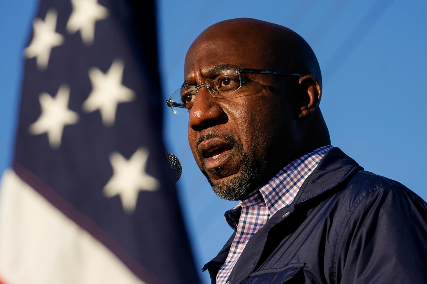 In this Nov. 15, 2020, file photo Raphael Warnock, a Democratic candidate for the U.S. Senate, speaks during a campaign rally in Marietta, Ga. (AP Photo/Brynn Anderson, File)