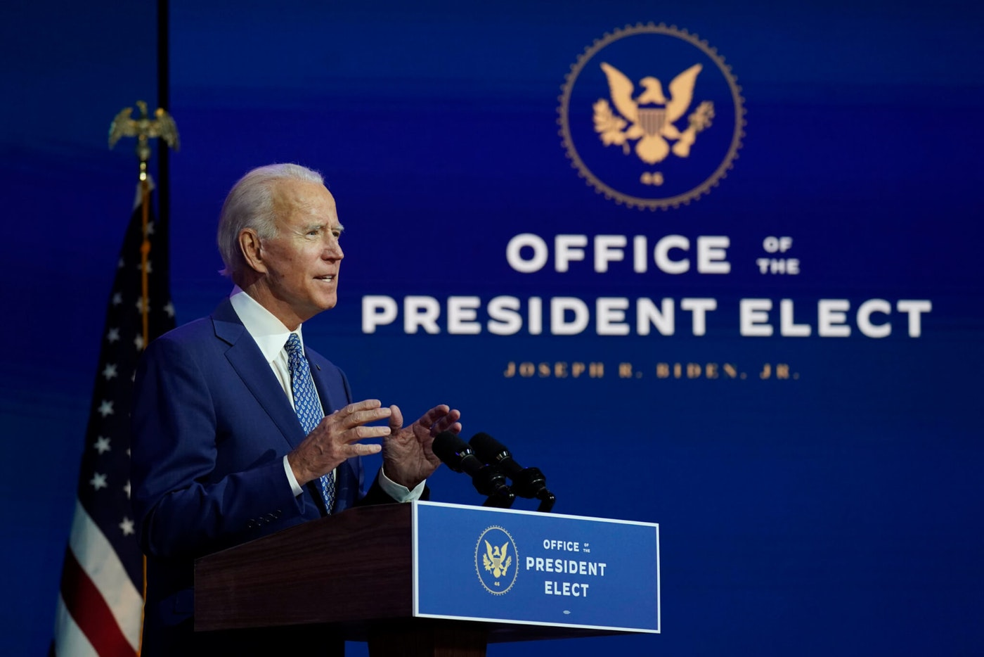 President-elect Joe Biden has already unveiled ambitious plans for his presidency, including the creation of a coronavirus task force. The Trump administration, though, is still refusing to cooperate with a presidential transition. (AP Photo/Carolyn Kaster)