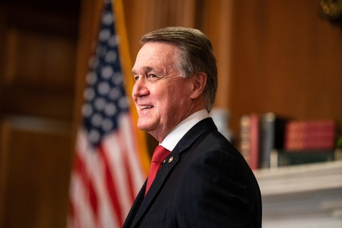 Georgia Sen. David Perdue (Photo by Anna Moneymaker-Pool/Getty Images)
