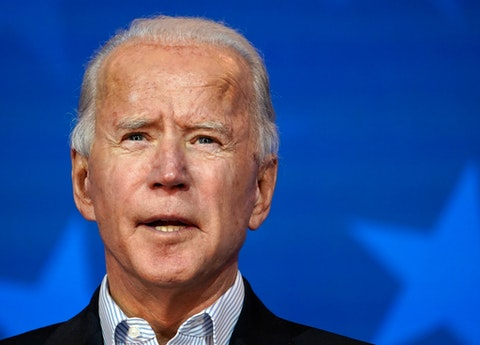 Democratic nominee Joe Biden address the nation as states across the country continue counting votes in the 2020 election. (Photo by Drew Angerer/Getty Images)