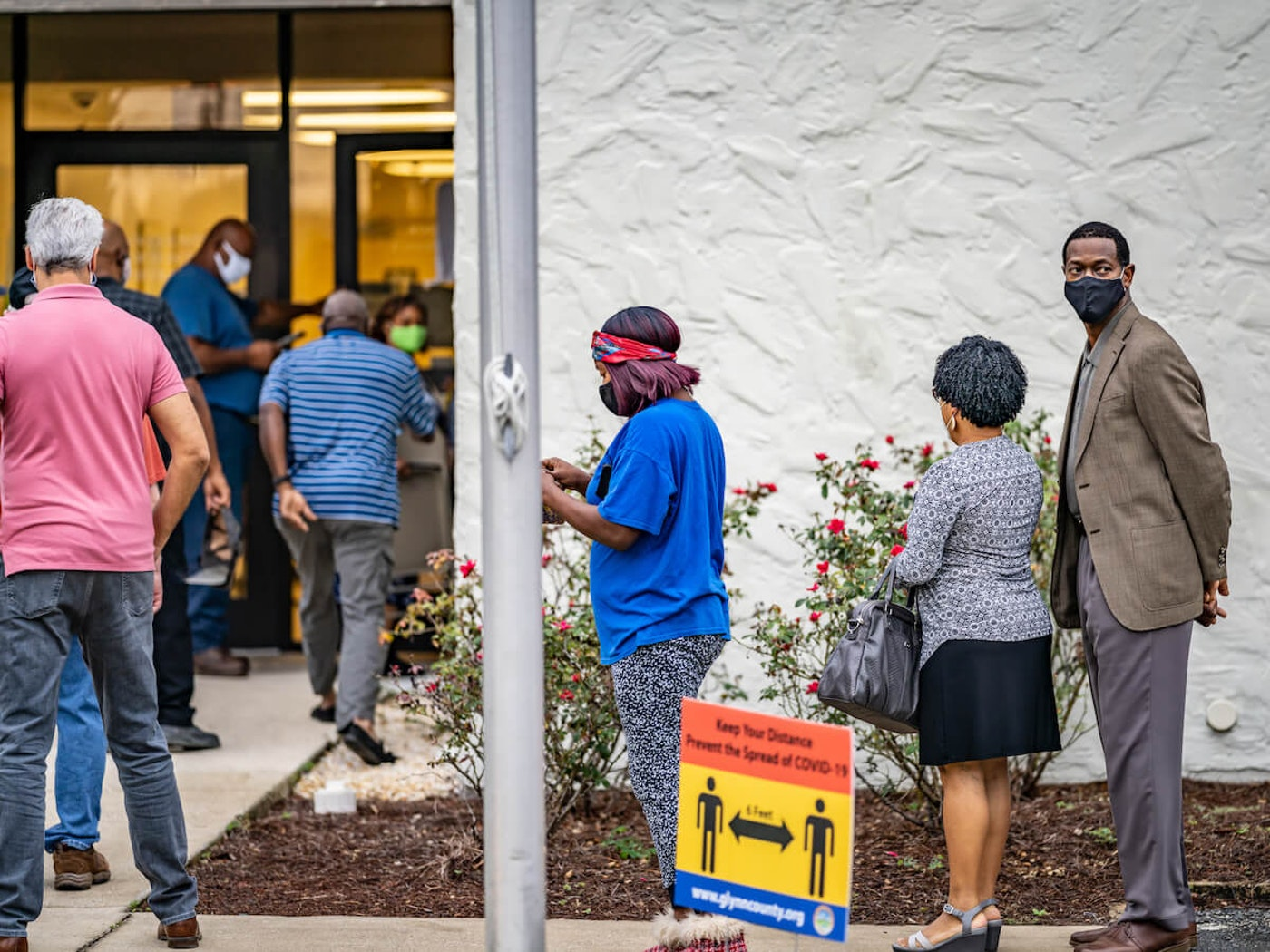 Voters stand in line in Georgia
