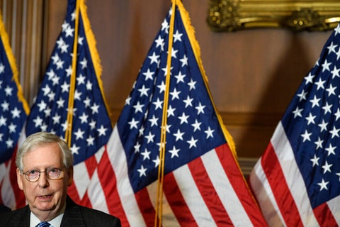 Senate Majority leader Mitch McConnell, who blocked $2,000 stimulus checks