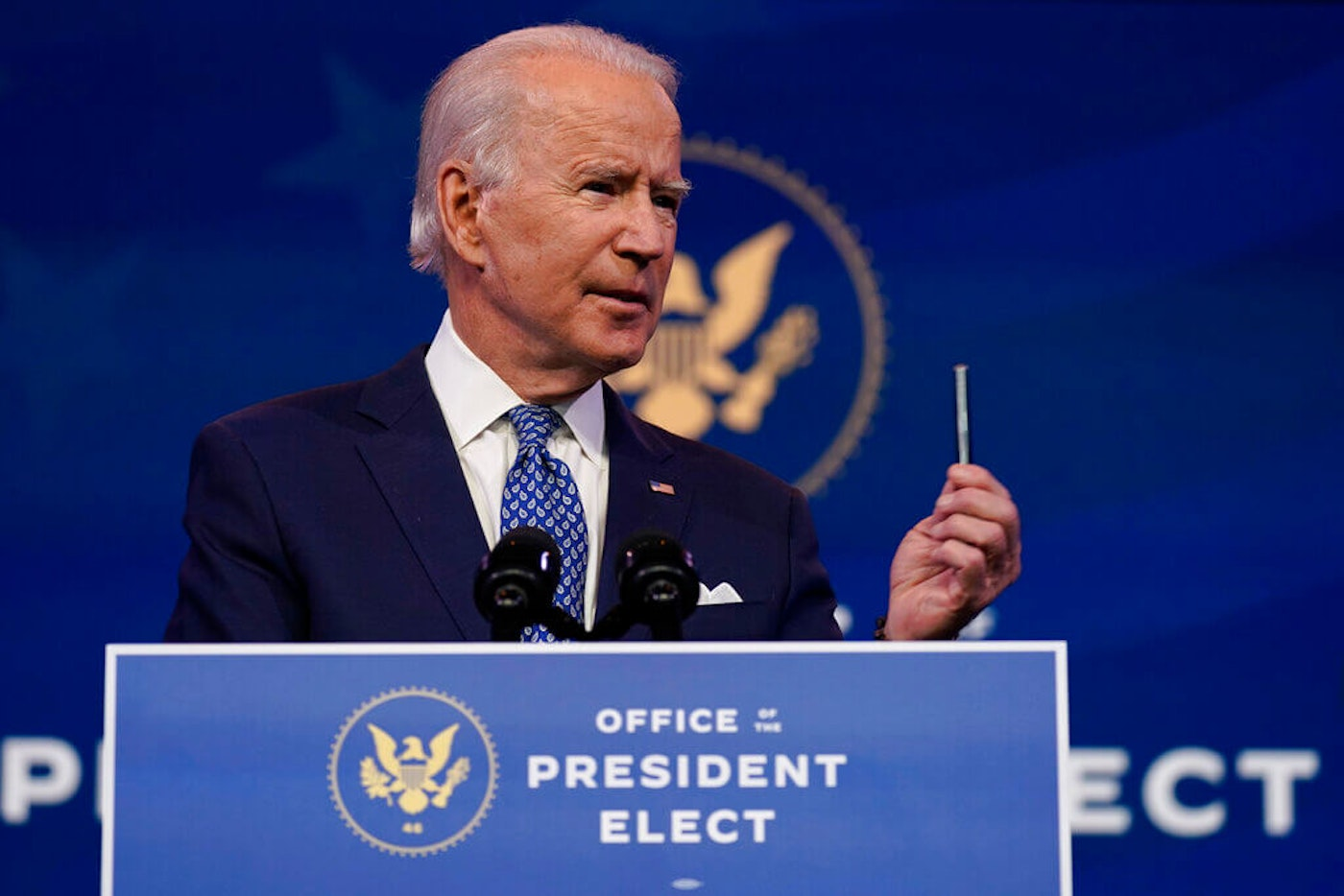 President-elect Joe Biden blamed Trump for the massive hack of US government agencies—likely perpetrated by Russia. (AP Photo/Carolyn Kaster)